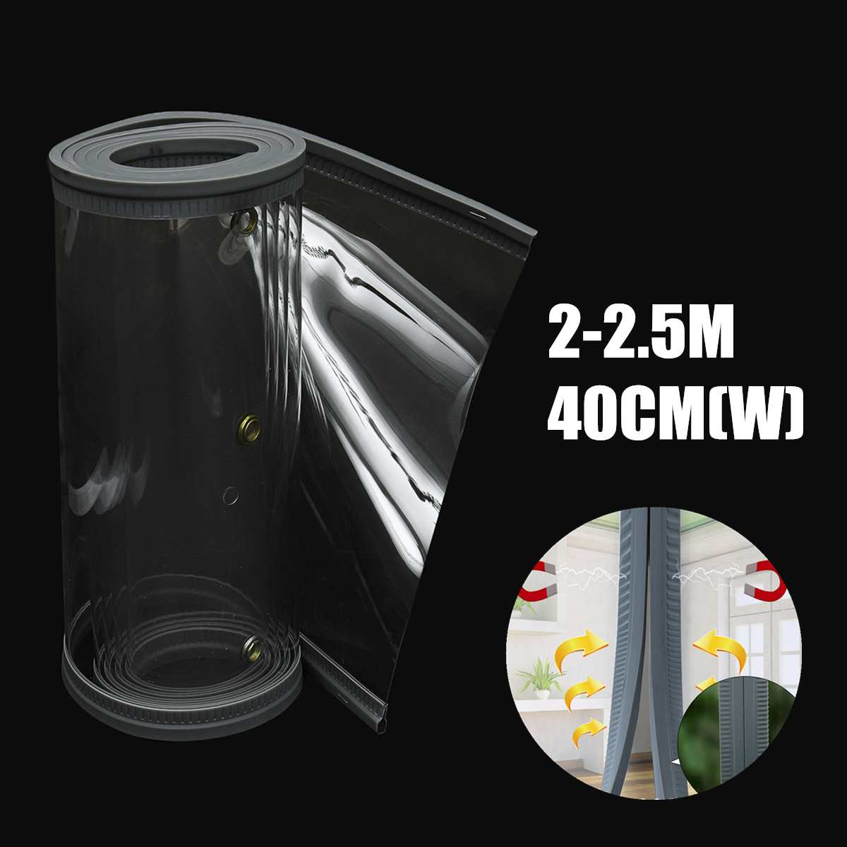 Clear Flexible PVC Winter Warm Door Window Curtain Strip Magnetic Closing Fly Insect Bug Screen Modern Home Kitchen CurtainsClear Flexible PVC Winter Warm Door Window Curtain Strip Magnetic Closing Fly Insect Bug Screen Modern Home Kitchen Curtains