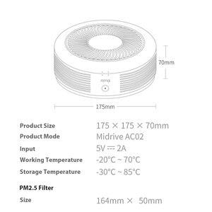 Image 3 - Car Air Purifier Pro PM2.5 Filter Sterilizer 52m3/h CADR Oxygen Bar Freshener Vehicle Air Cleaner Mute Purifier