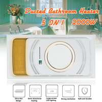 5 in 1 Bathroom Ceiling Electric Heater 2KW 220V Exhaust Fan Ducted Heat LED Light