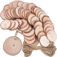 50 X деревянные диски с отверстиями и 10 м струны