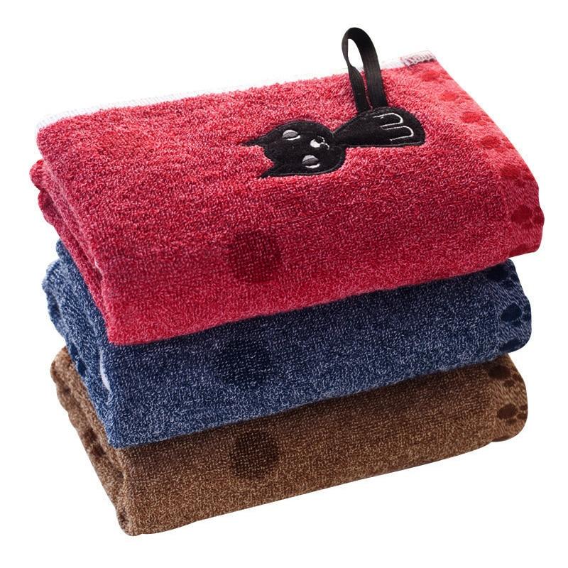Cute Cat Printed Towels