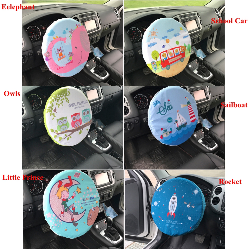 Cartoon Car Steering Wheel Sunshade Cover UV Resistant Insulation Hot Heat Sun Shade Protector Auto Steering Wheels Decoration