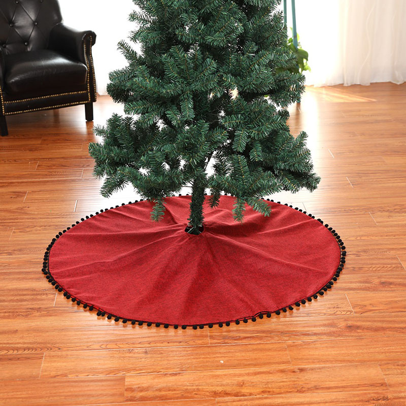 New Red Christmas Tree Skirts Christmas Tree Aprons Merry Christmas Tree Dresses 127CM Xmas Decorations for Home Outdoor 2018 in Tree Skirts from Home Garden