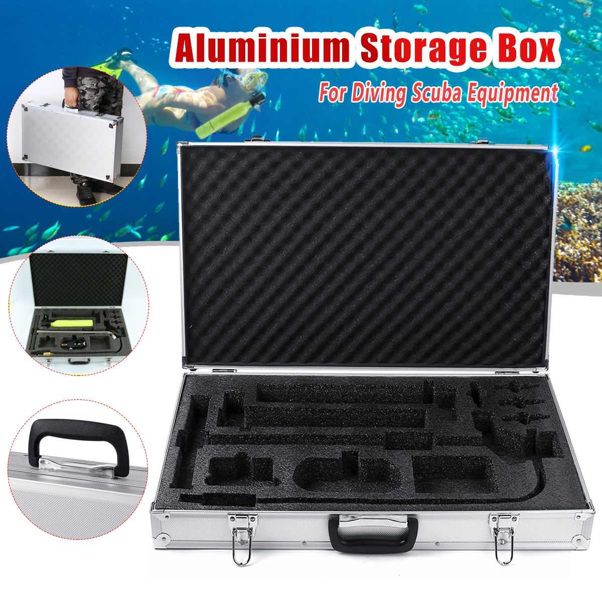 Boîte en aluminium d'équipement de plongée pour le Mini réservoir d'air de cylindre d'oxygène de plongée avec le dispositif respiratoire sous-marin de plongée en apnée