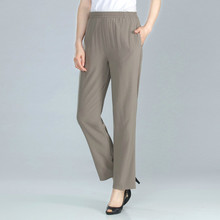 Spring Summer Middle Aged Women Pants Elegant High Waist Solid Color Pant Casual Straight Trousers Pantalon Femme Plus Size 4XL spring summer middle aged women pants elegant high waist solid color pant casual straight trousers pantalon femme plus size 4xl