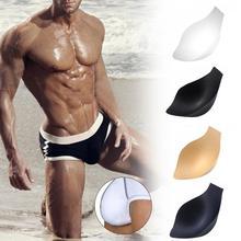 2 шт., мужские плавки, нижнее белье, трусы, губка, Защитная Прокладка, купальник, увеличение пениса, сумка, подкладка внутри, Передняя Защитная Прокладка