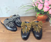Femmes printemps automne véritable cuir cristal chaussures plates Chic décontracté sans lacet mocassins EU35 ~ 39 taille BY269