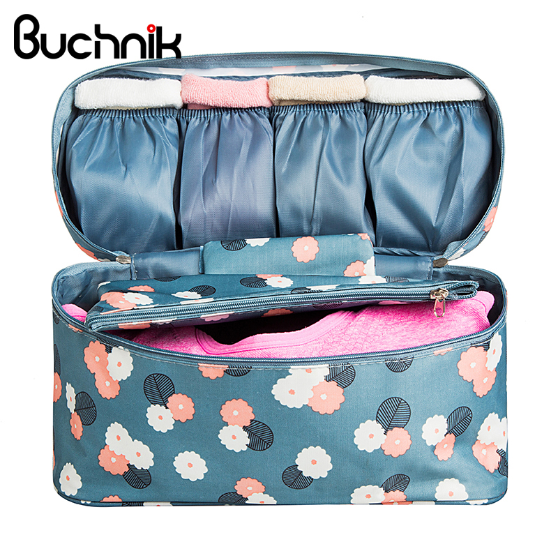 Portable Bra Underwear Travel Bags Women's Clothes Toiletry Cosmetic Storage Pouch Organizer Wash Case Accessories Supplies
