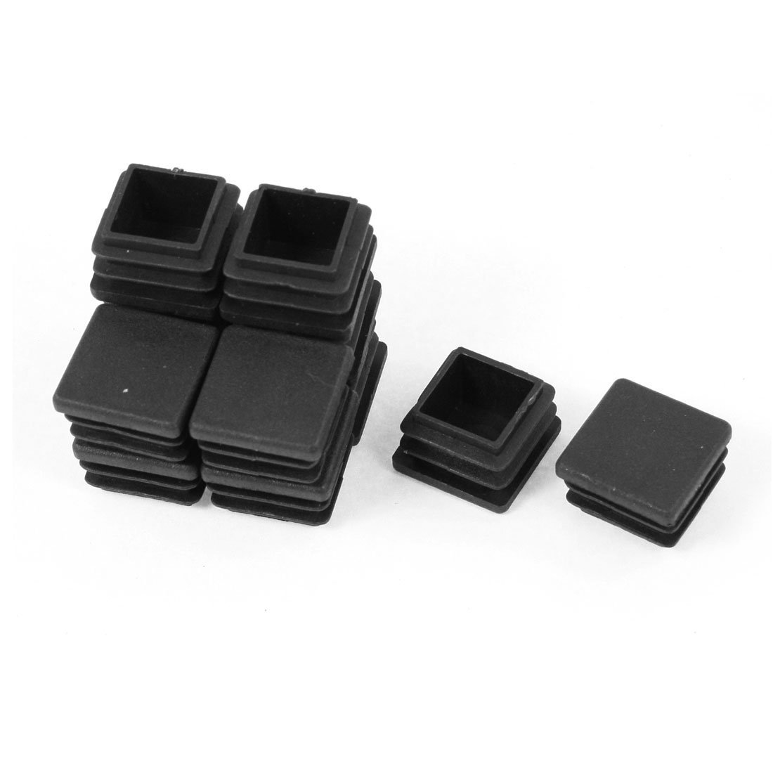 Promotion! 12 Pieces Black Plastic  Square Plugs for The Ends Table leg End Inserted Tube 20mm x 20mmPromotion! 12 Pieces Black Plastic  Square Plugs for The Ends Table leg End Inserted Tube 20mm x 20mm