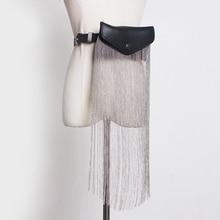 [EAM] 2020 חדש אביב קיץ עור מפוצל שחור גדילים פיצול משותף מיני תיק אישיות ארוך חגורת נשים אופנה כל להתאים JR891