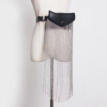 [EAM] Mini bolso de piel sintética con borlas para mujer, cinturón largo con personalidad, combina con todo, primavera y verano, 2020