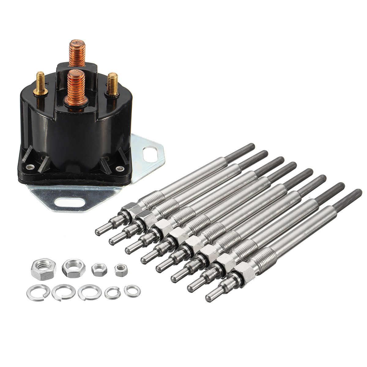 9pcs 7 3l car powerstroke for diesel glow for spark plug glowplug relay solenoid heater plug [ 1200 x 1200 Pixel ]