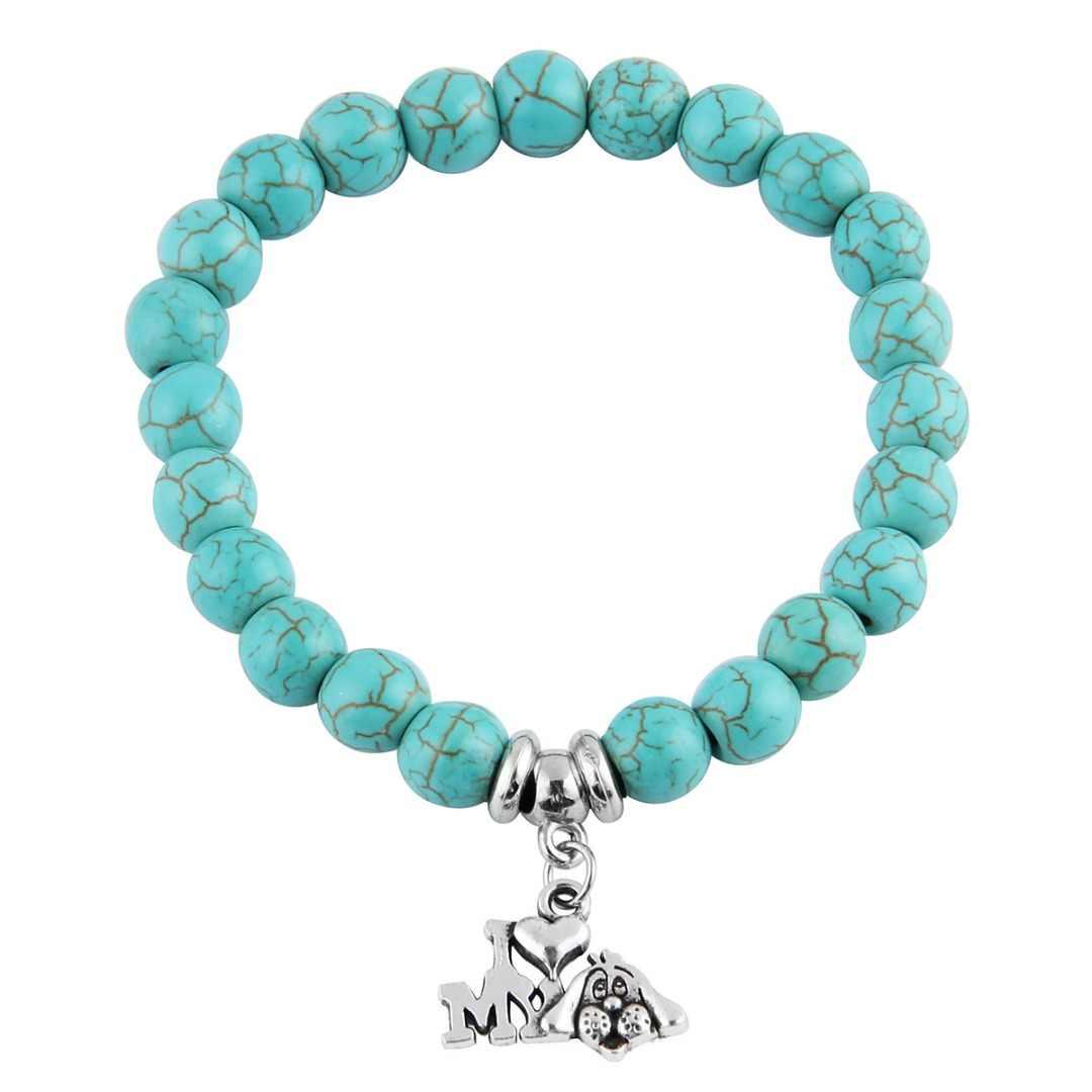 Vintage Boho bracelets porte-bonheur bracelets femmes pierre naturelle arbre de vie éléphant amour coeur pendentif perle Bracelet bohême bijoux