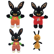 30cm37cm Cartoon Bing Bunny Rabbit Flop Plush Toy soft touch funny Stuffed Animal Plush pendant Dolls forchildren kids present stuffed plush toy electric funny music dancing bunny