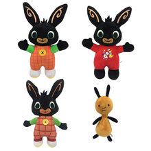 30cm37cm Cartoon Bing Bunny Konijn Flop Knuffel soft touch grappige Knuffel Pluche hanger Poppen forchildren kids present(China)