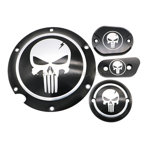 Motorcycle Skull Derby Timer Clutch Timing Covers Master Cylinder Chain Inspection Cover For Harley Sportster Iron XL883 XL1200(China)