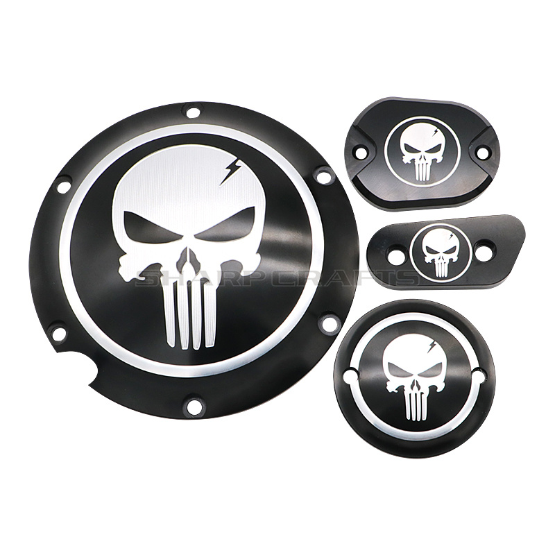 Motorcycle Skull Derby Timer Clutch Timing Covers Master Cylinder Chain Inspection Cover For Harley Sportster Iron XL883 XL1200-in Covers & Ornamental Mouldings from Automobiles & Motorcycles