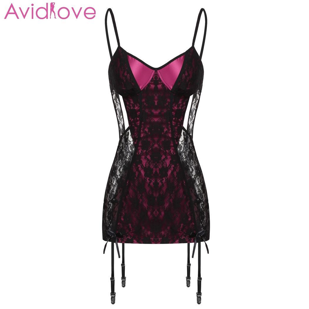9500f2d1a976 Avidlove mujer Sexy de encaje Lencería de talla grande ropa interior ...