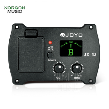 JOYO JE-53 Guitar Preamp EQ & Tuner Folk Classical and Acoustic Equalizer Volume Tone Controls Piezo pickup Parts and Accessory