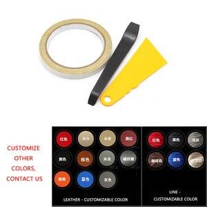 Image 5 - 4 pçs estilo do carro interior microfibra couro porta braço painel capa adesivo guarnição para peugeot 301 2014 2015 2016 2017 2018