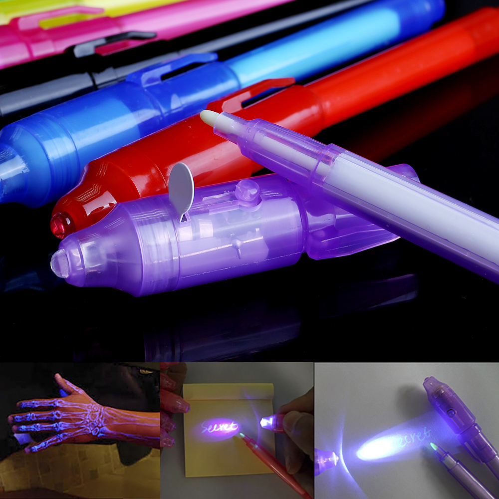 Luminous Light Magic Pen Dark Funny Novelty Gag Light-Up Toys Popular Toys Magic Fidget Pen For Kids Adult Highlighter