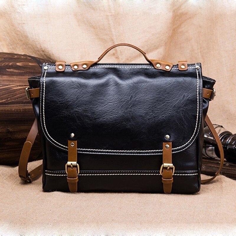 PU cuir sacs à main rétro hommes mallette ordinateur portable messenger sac bandoulière épaule affaires Bolso Hombre mode fourre-tout