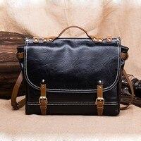 PU Leather Handbags Retro Men's Briefcase Computer Laptop Messenger Bag Crossbody Shoulder Business Bolso Hombre Fashion Tote