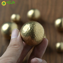 1 pc Gold Brass Round Cabinet Door Knobs and Handles Furnitures Cupboard Wardrobe Drawer Pull