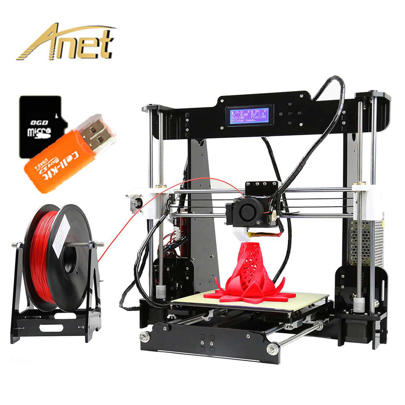 Best Selling Anet A8 DIY Assembled 3D Printer With Auto Leveling High Precision Large Printing Size
