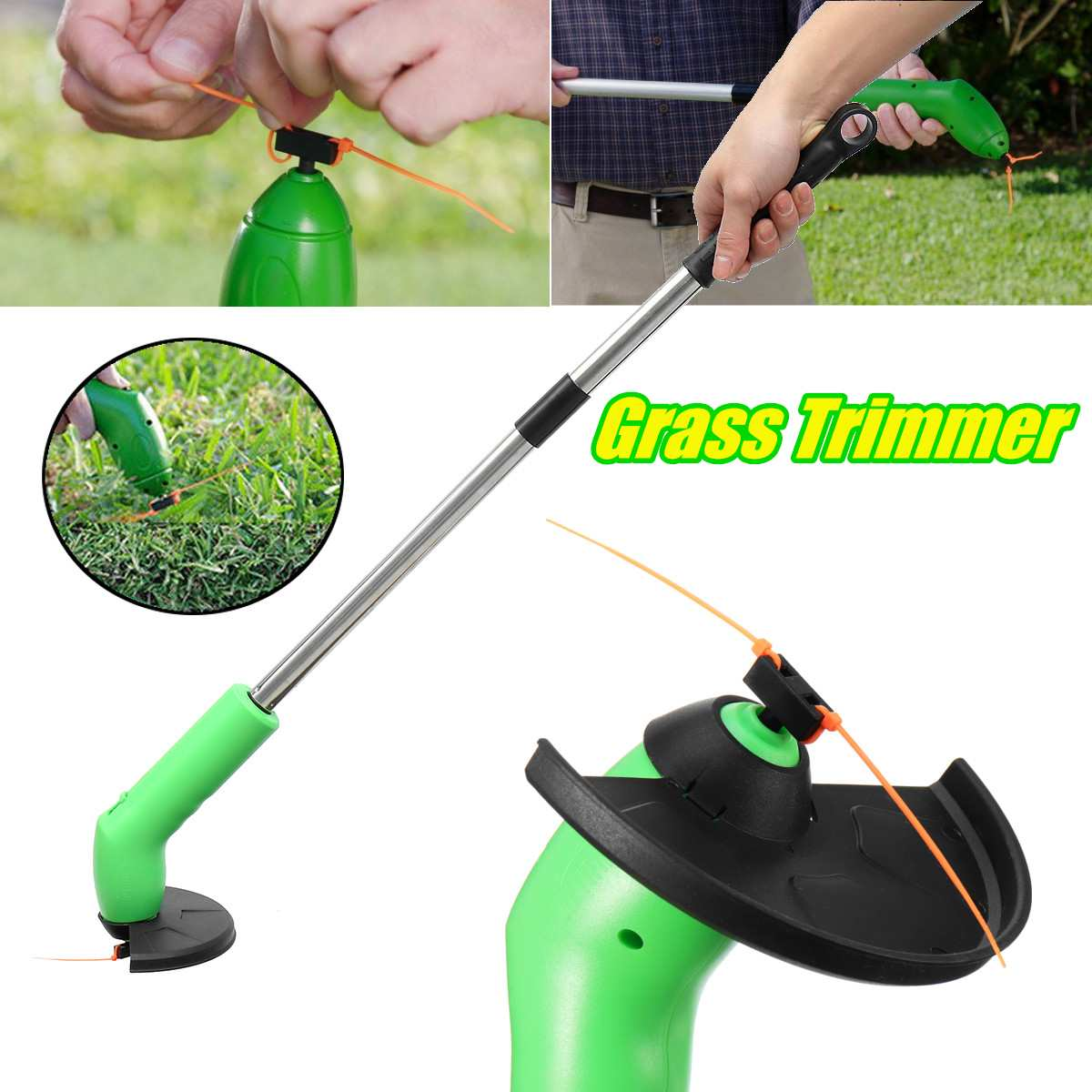 Retractable Grass Trimmer Cutter Lawn Mower Cordless Lawnmower Garden WeedRemover Edging Ties Portable Garden Power Tools