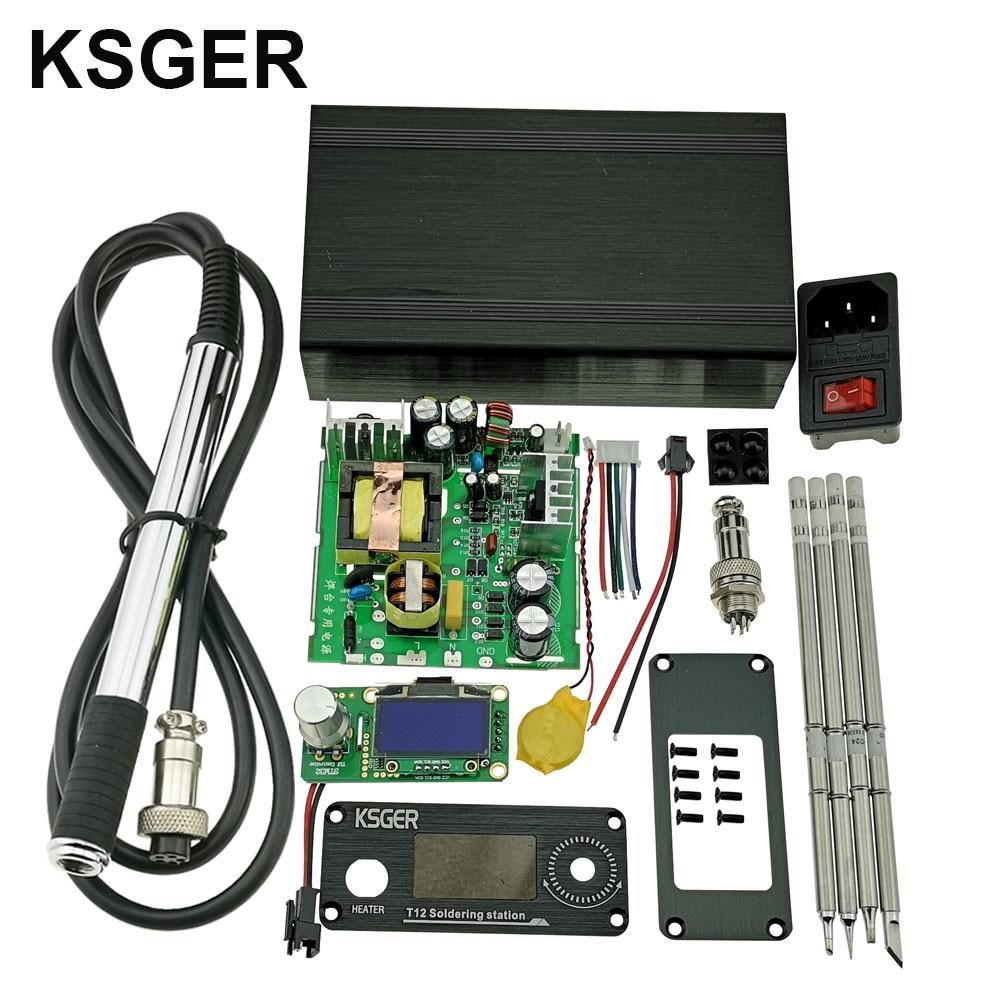 KSGER V2.1S Desoldering Electric Pump Suction T12 STM32 OLED Digital Temperature Soldering Station Controller Welding Tools