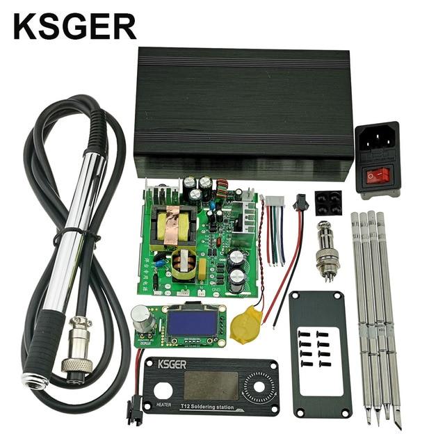 KSGER V2.1S di saldatura Elettrica T12 STM32 OLED Digital Stazione di Saldatura Temperatura Regolatore di Strumenti di Saldatura