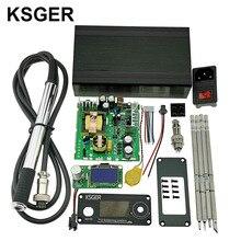 KSGER V2.1S lehimleme elektrik T12 STM32 OLED dijital sıcaklık lehimleme istasyonu kontrol kaynak araçları