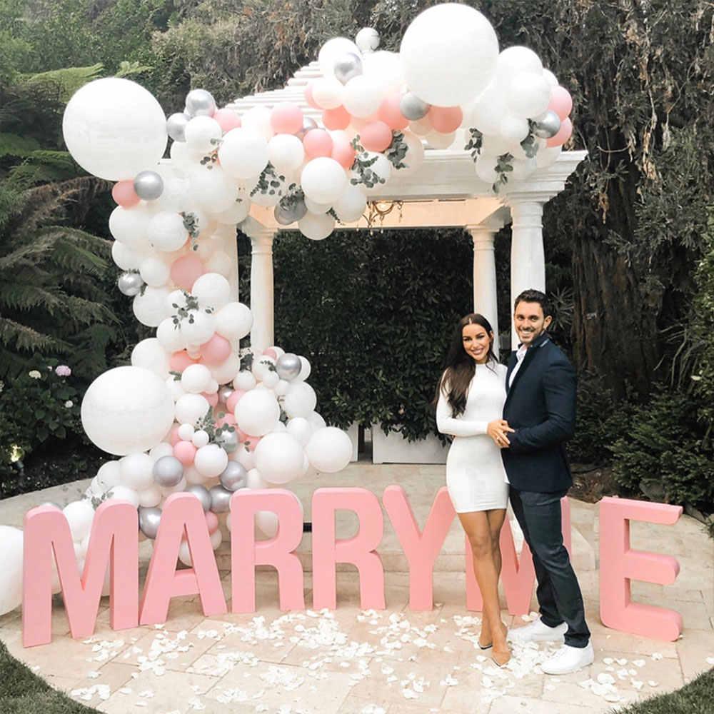 Pink Gold White Balloon Arch Chain Wedding Party Garland ...