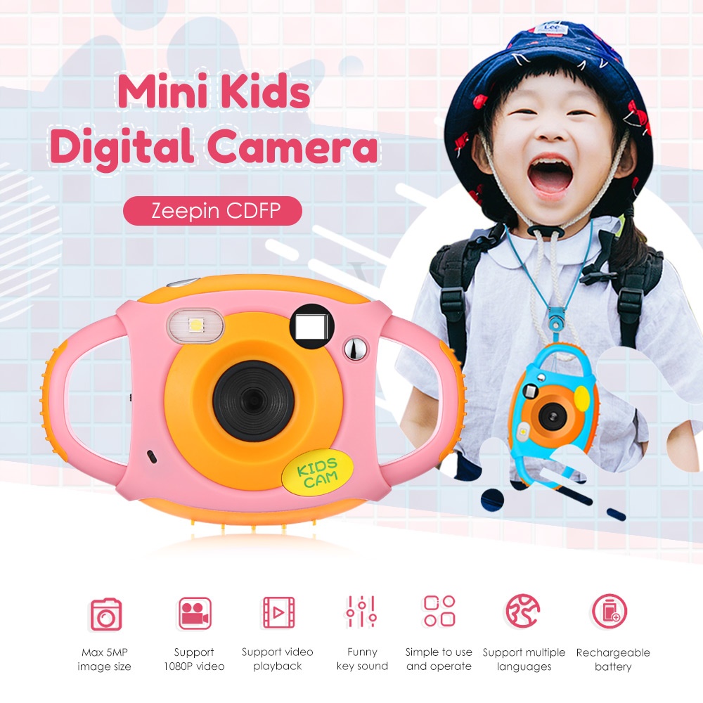 Multi-Function Design Children Creative Camera 1.77 Inch WiFi 5MP Kids Mini Digital Camera For Children Boy Girls Birthday Gifts