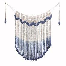 Large Macrame Wall Hanging Tapestry Boho Wedding Decor Lace Backdrop Bohemian Yarn Dorm -