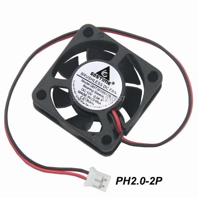 3PCS Lot Gdstime 3010 30MM 30x30x10MM 12V 2Pin DC Cooler Small Cooling Fan