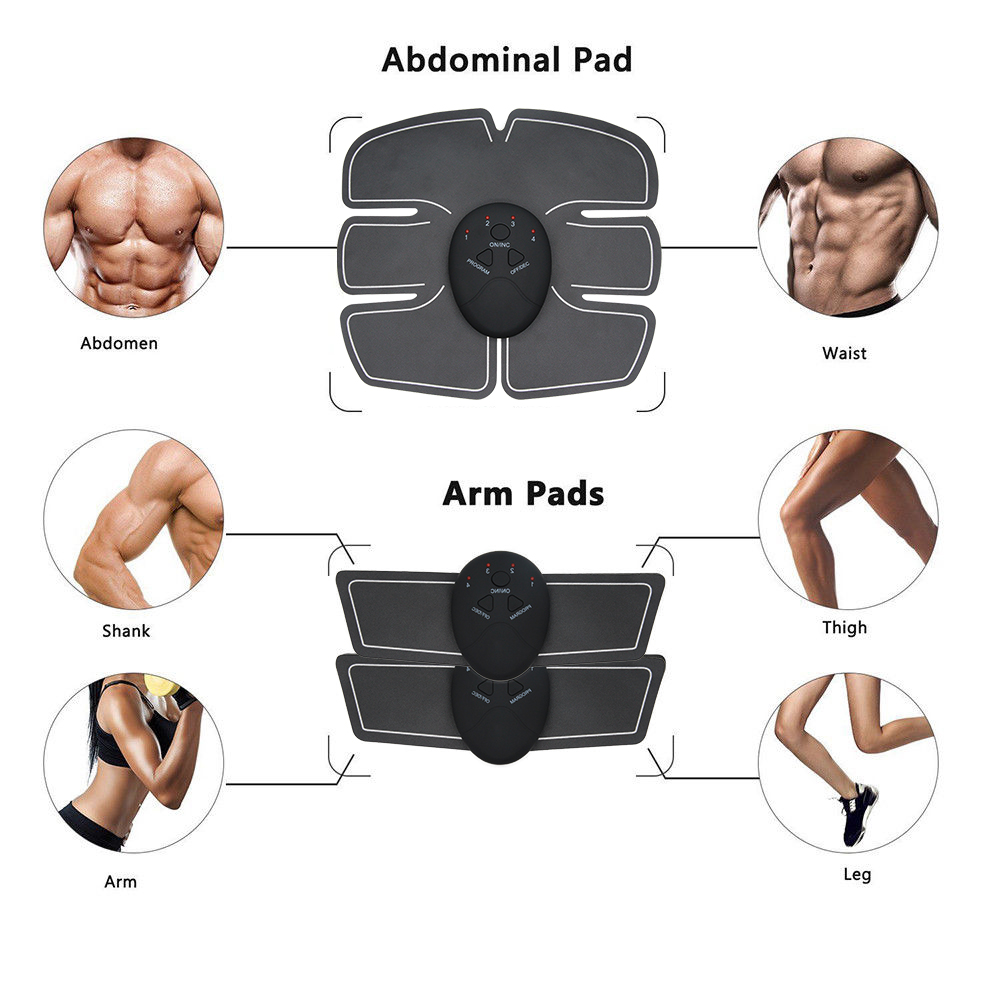 Fitness Abdominal Muscle Trainer EMS Electric Press Stimulator Slimming Machine Fitness Gym Equipment For training Apparatus Set 4