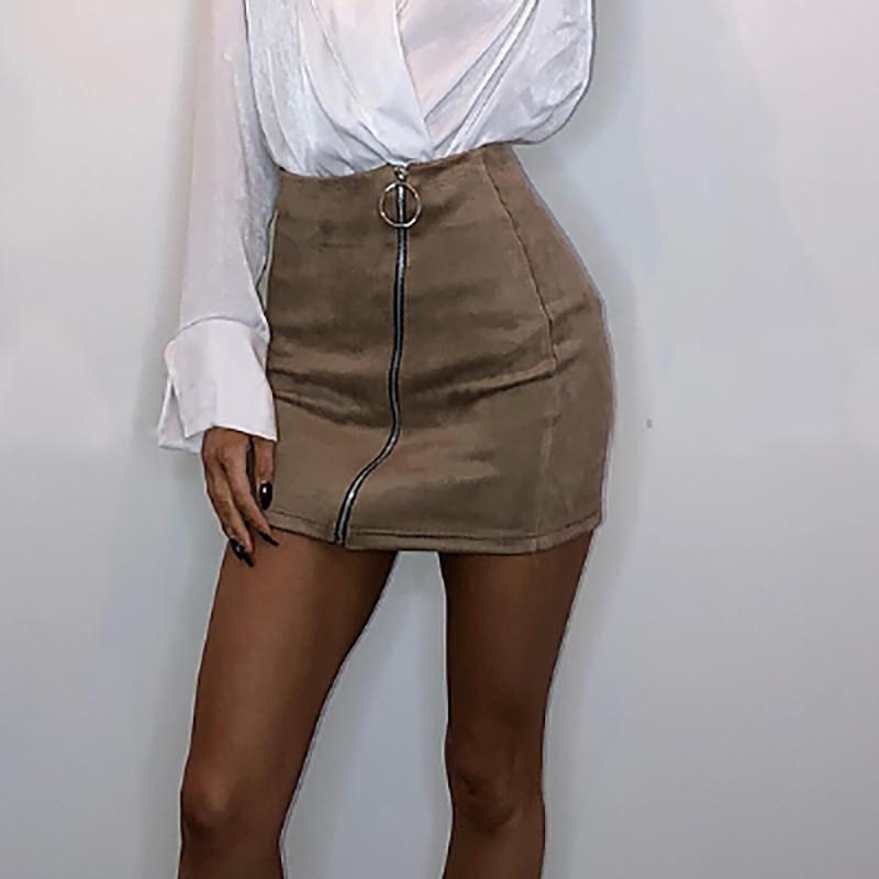 Hot Women Skirt Bandge Leather High Waist Pencil Skirt Bodycon Short Mini Skirts