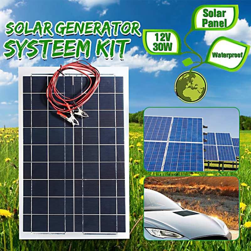 Chargeur de batterie de panneau solaire Semi Flexible de CLAITE 30 W 12 V + câble pour le camping-car de bateau de RV pour des produits de batterie de trickle