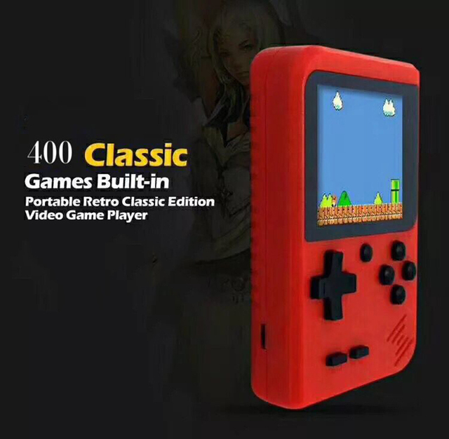 400 in 1 Portable Video Handheld Game Console Retro Classic Mini Game Machine Built in 400 Classic Unduplicated Game 300 in 1