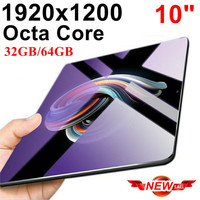 Ips планшет Octa Core 10 дюймов 32 ГБ/64 ГБ 2 in1 планшет с телефона Ful HD 1920x1200 Tablet PC Google Play Android 7,0 Nougat 10 10,1