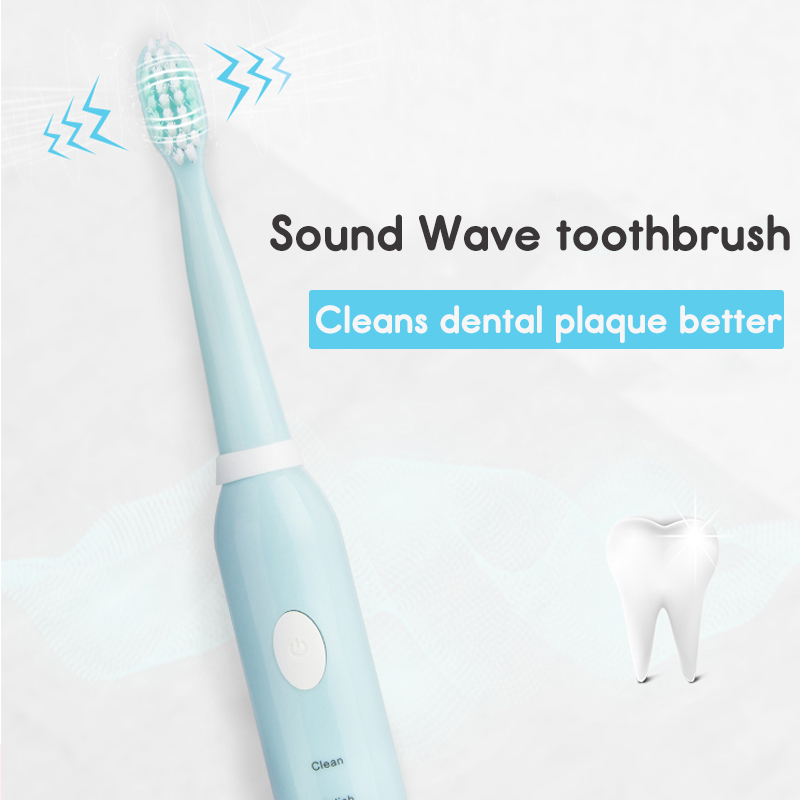 Rechargeable Sonics Electric Toothbrush Timing Ultrasonic Whitening Teeth Vibrator Wireless Oral Hygiene 4pcs Soft Brush Heads