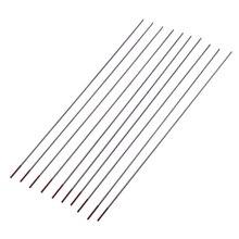 Горячая 10 шт. красного цвета код ториевый вольфрамовый электрод головы Вольфрам иглы/стержень для сварочный аппарат