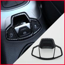 Немного Тюнинг автомобиля центральная консоль для салона Кнопка Ручного Тормоза Крышка отделка Стикеры для Jeep Compass Ренегат