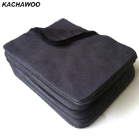Kachawoo 175mm X 145mm 100pcs Eyewear Accessories Black Microfiber Cleaning Cloth Suede Cleaning For Glasses Customize