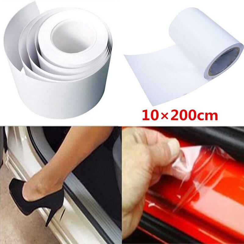 Anti-Scratch 2m*10cm Clear Film Vinyl Car Door Sill Edge Paint Protector