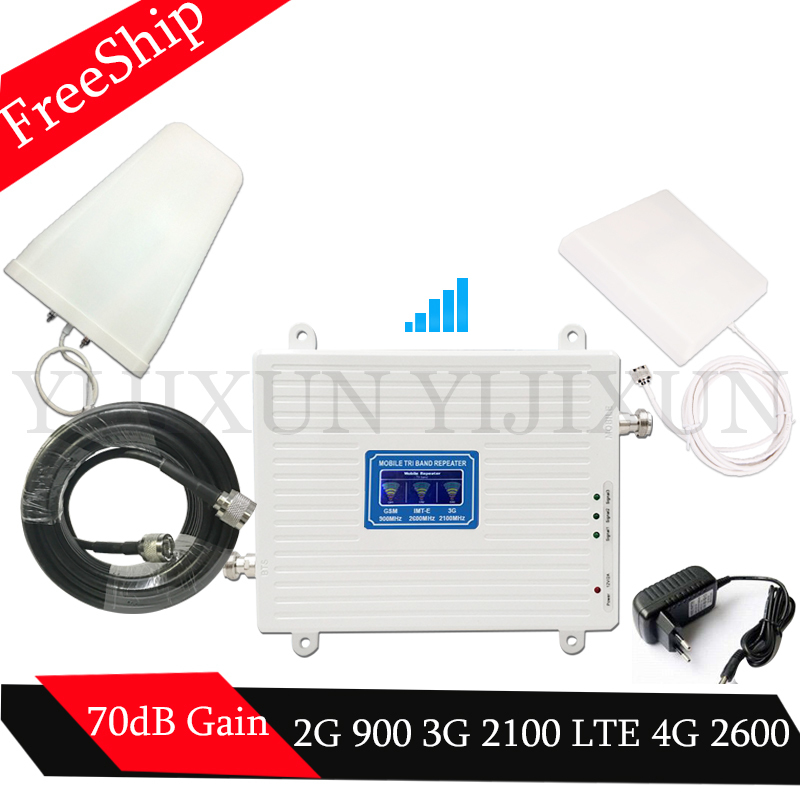 2G 3G 4G 900 2100 2600 GSM WCDMA LTE 2600 Cell Phone Signal Booster GSM 3G