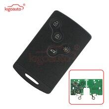 цена на Kigoauto 285975779R Remote Smart Card Key 4 button 434mhz PCF7952 for Renault Laguna III Megane III Scenic III 2010 2011 2012