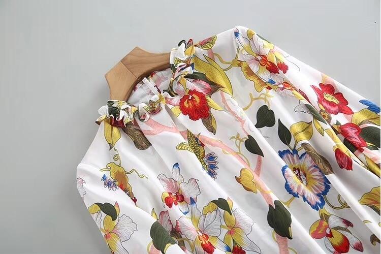 Donne Design 2019 Europeo Stile a Delle Marca Abbigliamento Lusso Di Camicette Famoso Modo B Wd02270 amp; Partito Del Pista gq7X5w